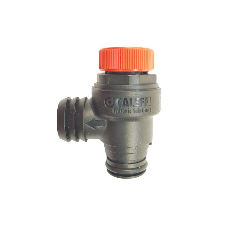 6VALSIBA17 Кран безопастности 3 BAR пластмассовый(резиновый держатель)