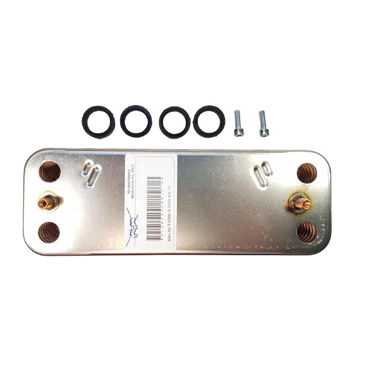 6SCAMPIA08  Теплообменник 14 пластин с прокладками и винтами