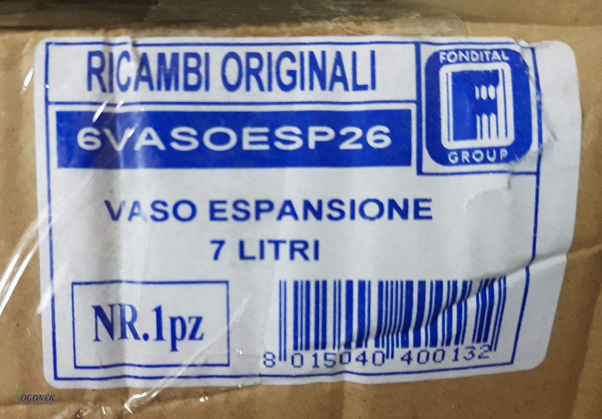6VASOESP26  РАСШИРИТЕЛЬНЫЙ БАК 7 ЛИТРОВ 450х360х6 мм