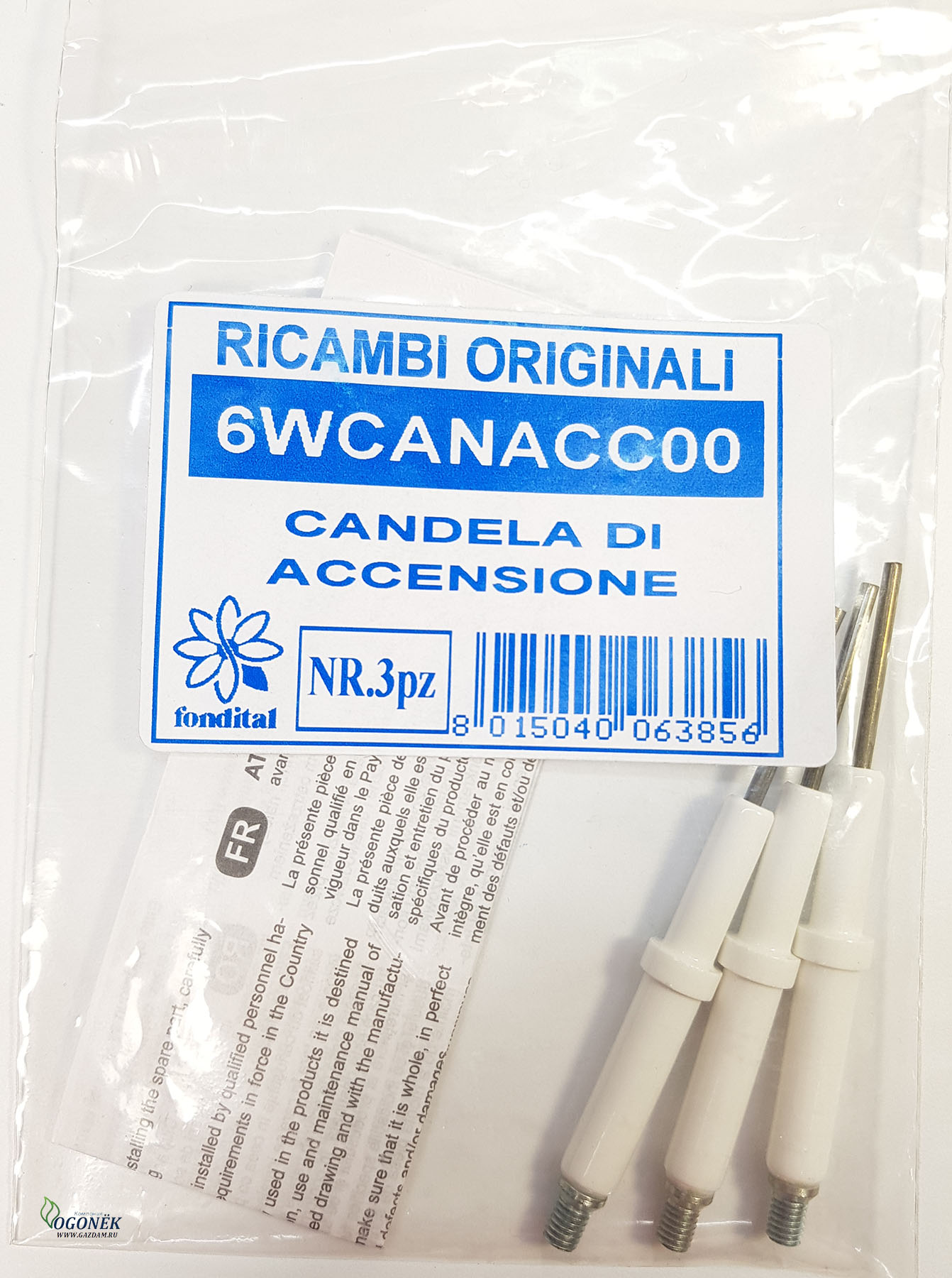 6WCANACC00 ЭЛЕКТРОД РОЗЖИГА CANDELA DI ACCENSIONE